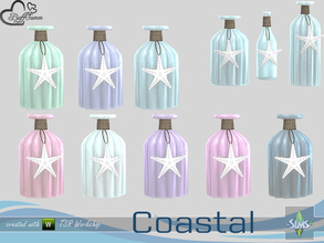 Sims 4 — Coastal Living Deco Bottle v1 by BuffSumm — Part of the *Coastal Living Set* Created by BuffSumm @ TSR