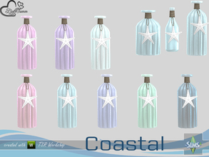 Sims 4 — Coastal Living Deco Bottle v2 by BuffSumm — Part of the *Coastal Living Set* Created by BuffSumm @ TSR