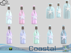 Sims 4 — Coastal Living Deco Bottle v3 by BuffSumm — Part of the *Coastal Living Set* Created by BuffSumm @ TSR