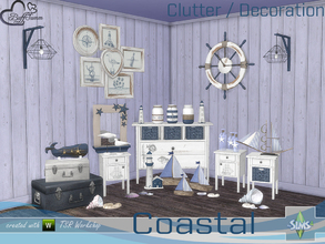 Sims 4 — Coastal Living Deco by BuffSumm — Decorative Items matching the Coastal Living Room Set... Have Fun and enjoy!