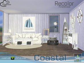 Sims 4 — Coastal Living Fine Wood Recolor by BuffSumm — Fine Wood Recolor of the Coastal Living Set... Have fun!!!