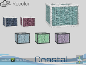 Sims 4 — Coastal Living Decoration Recolor Wicker Basket 1 by BuffSumm — Part of the *Coastal Living Set* Created by