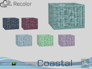 Sims 4 — Coastal Living Decoration Recolor Wicker Basket 2 by BuffSumm — Part of the *Coastal Living Set* Created by