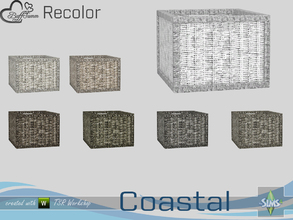 Sims 4 — Coastal Living Decoration Recolor Wicker Basket 3 by BuffSumm — Part of the *Coastal Living Set* Created by