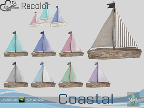 Sims 4 — Coastal Living Decoration Recolor Boat Medium by BuffSumm — Part of the *Coastal Living Set* Created by BuffSumm