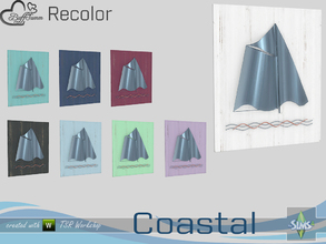 Sims 4 — Coastal Living Decoration Recolor Painting v2.1 by BuffSumm — Part of the *Coastal Living Set* Created by