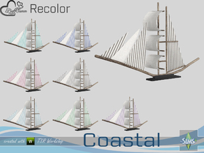 Sims 4 — Coastal Living Decoration Recolor Boat v2 by BuffSumm — Part of the *Coastal Living Set* Created by BuffSumm @