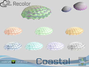 Sims 4 — Coastal Living Decoration Recolor Shell Large 1 by BuffSumm — Part of the *Coastal Living Set* Created by