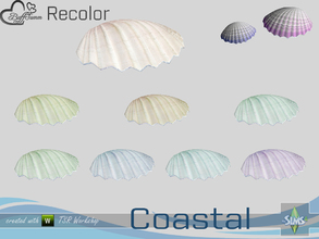 Sims 4 — Coastal Living Decoration Recolor Shell large 2 by BuffSumm — Part of the *Coastal Living Set* Created by
