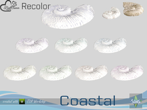Sims 4 — Coastal Living Decoration Recolor Shell 3 large by BuffSumm — Part of the *Coastal Living Set* Created by