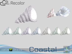 Sims 4 — Coastal Living Decoration Recolor Shell 4 large by BuffSumm — Part of the *Coastal Living Set* Created by