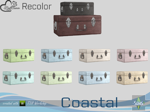 Sims 4 — Coastal Living Decoration Recolor Suitcase small by BuffSumm — Part of the *Coastal Living Set* Created by
