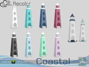 Sims 4 — Coastal Living Decoration Recolor Lighthouse large 2 by BuffSumm — Part of the *Coastal Living Set* Created by