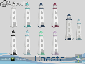 Sims 4 — Coastal Living Decoration Recolor Lighthouse small 1 by BuffSumm — Part of the *Coastal Living Set* Created by