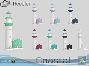 Sims 4 — Coastal Living Decoration Recolor Lighthouse v2 by BuffSumm — Part of the *Coastal Living Set* Created by
