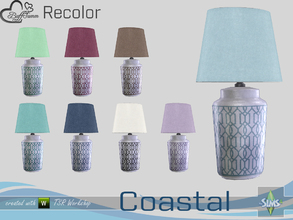 Sims 4 — Coastal Living Decoration Recolor Tablelamp by BuffSumm — Part of the *Coastal Living Set* Created by BuffSumm @