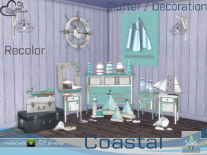 Sims 4 — Coastal Living Decoration Recolor by BuffSumm — Recolors of the Decoration Part from the Coastal Living Set...
