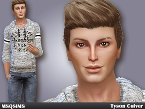 Sims 4 — Tyson Culver by MSQSIMS — Tyson Culver is a teenager who wants to become a bodybuilder. He loves fitness and to