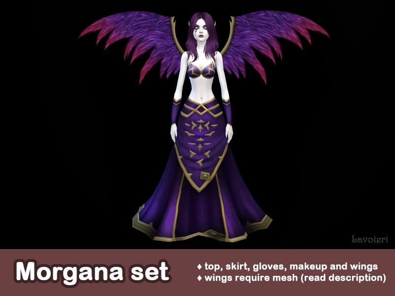 design de qualité 5c956 f6a5e Lavoieri's Morgana Set (wings require mesh)