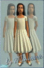 Sims 2 — Mini_FC_Form_16 & Mini_FC_Hair_12 by minicart — A pretty formal dress with matching hair clip (not shown).