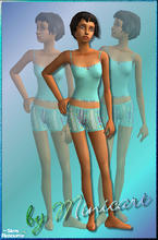 Sims 2 — Mini_FTn_PJ_11 by minicart — Pretty turquoise PJ's for your teen Sim.