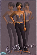 Sims 2 — Mini_FTn_ED_12 & Mini_FTn_ED_15 by minicart — A pretty purple outfit for every day for your teen Sim.
