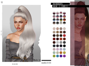 Sims 3 — LeahLillith Raindrops Hair by Leah_Lillith — Raindrops Hair All LODs Smooth bones custom CAS thumbnail hope you