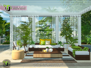 Sims 4 — Zone Patio by NynaeveDesign — Make your sim's outdoor space an inviting place to kick back and relax. From