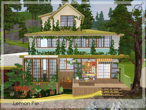Sims 3 — Lemon Pie by timi722 — Home for a small family. Unfurnished. Open area on the ground floor and on the upper