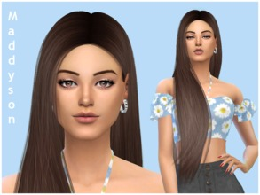 Sims 4 — Maddyson Wilson by ToriPlayzSims — Maddyson Wilson is a young adult, She has the Friends of the World trait,