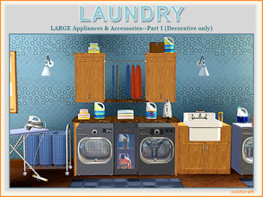 Sims 3 — Laundry Part I by Cashcraft — It's a Modern Laundry Set and Part I includes 8 new objects for your home, which