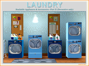 Sims 3 — Laundry Part II by Cashcraft — Laundry Part II, includes 8 additional new objects for the Modern Laundry set,