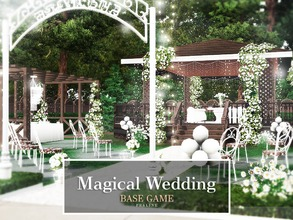 Sims 3 — Magical Wedding by Pralinesims — Base game NO EP's and SP's