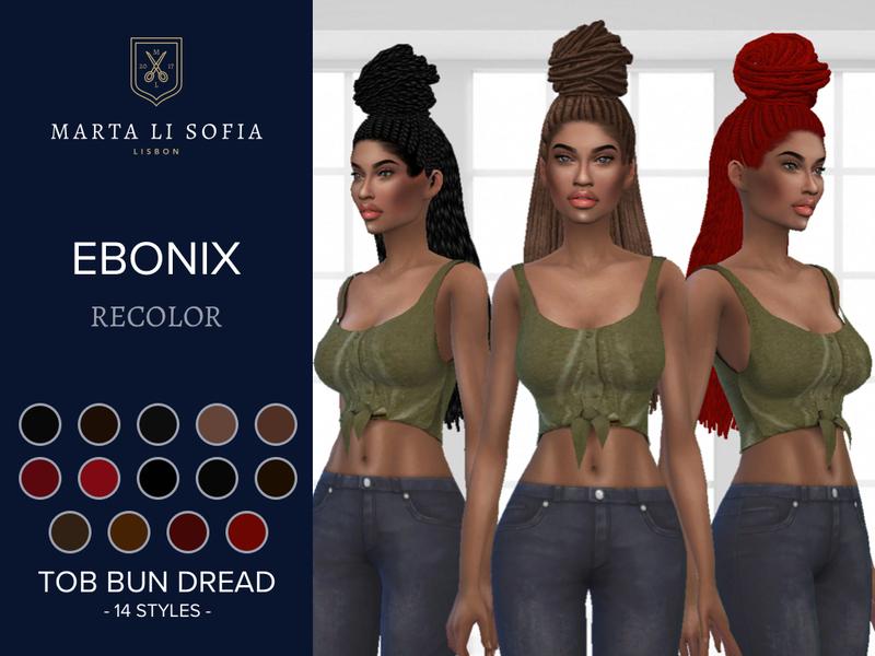 Ebonix sims 4 hair