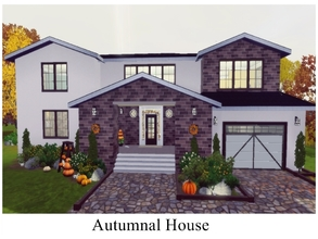 Sims 3 — Autumnal House by GhostlySimmer — Perfect for Thanksgiving! :) This house features 3 bedrooms (one master