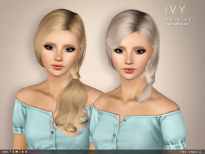 Sims 3 — Ivy ( Hair 69 ) - Version 2 by TsminhSims — - S3Hair - New meshes - All LODs - Smooth bone assigned