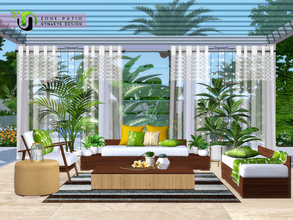 Sims 3 — Zone Patio by NynaeveDesign — Make your sim's outdoor space an inviting place to kick back and relax. From