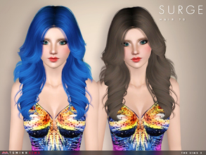Sims 3 — Surge ( Hair 70 ) by TsminhSims — - S3Hair - New meshes - All LODs - Smooth bone assigned