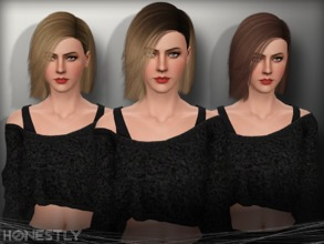Sims 3 — Ade - Honestly by Ade_Darma — New Hair Mesh No Morph all Bones assigned All LODs