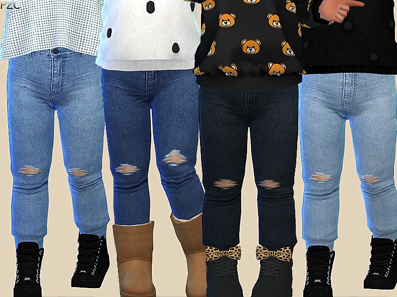 Pinkzombiecupcakes Denim Jeans For Toddler 015