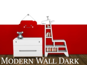 Sims 4 — Modern Wall Dark 1 by modelsims4 — Modern Wall Dark - 10 swatches - Made with Sims4Studio and Adobe Photoshop -