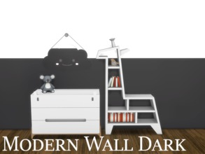 Sims 4 — Modern Wall Dark 3 by modelsims4 — Modern Wall Dark - 10 swatches - Made with Sims4Studio and Adobe Photoshop -
