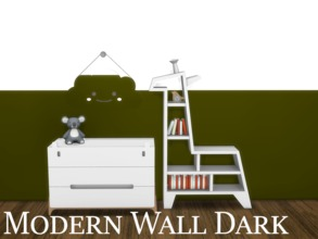 Sims 4 — Modern Wall Dark 4 by modelsims4 — Modern Wall Dark - 10 swatches - Made with Sims4Studio and Adobe Photoshop -