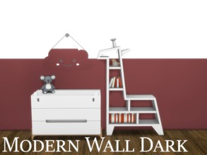 Sims 4 — Modern Wall Dark 5 by modelsims4 — Modern Wall Dark - 10 swatches - Made with Sims4Studio and Adobe Photoshop -