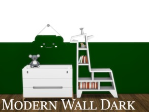Sims 4 — Modern Wall Dark 6 by modelsims4 — Modern Wall Dark - 10 swatches - Made with Sims4Studio and Adobe Photoshop -