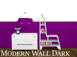 Sims 4 — Modern Wall Dark 9 by modelsims4 — Modern Wall Dark - 10 swatches - Made with Sims4Studio and Adobe Photoshop -