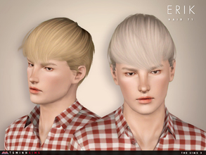 Sims 3 — Erik ( Hair 71 ) by TsminhSims — - S3Hair - New meshes - All LODs - Smooth bone assigned