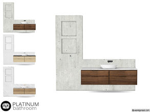 Sims 4 — Platinum Sink by wondymoon — - Platinum Bathroom - Sink - Wondymoon|TSR - Creations'2018