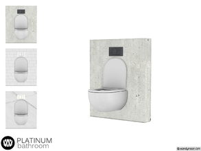 Sims 4 — Platinum Toilet by wondymoon — - Platinum Bathroom - Toilet - Wondymoon|TSR - Creations'2018