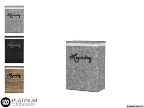 Sims 4 — Platinum Loundry Box by wondymoon — - Platinum Bathroom - Loundry Box - Wondymoon|TSR - Creations'2018
